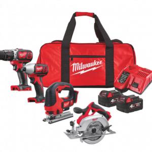 Milwaukee four piece tool kit M18 FPP4K2-502P