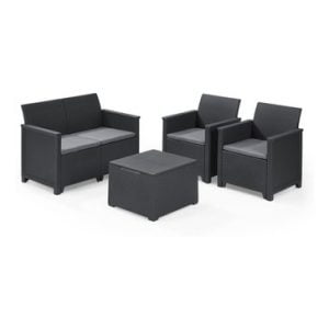 Keter Emma Lounge Set with Storage Table