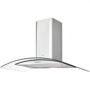COOKE & LEWIS CLCGS90 CURVED GLASS HOOD STAINLESS STEEL